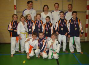 Twee teams Judoclub Helden Limburgs kampioen